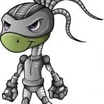Ninja Warrior Alien Cyborg Vector — Stock Vector
