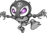 Cyborg Robot Ninja Warrior Vector — Stock Vector