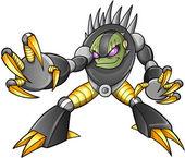 Cyborg Alien Ninja Warrior Robot Vector — Stock Vector