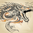 Dragon Doodle Sketch Tattoo Vector — Stock Vector #16867113