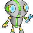 Stock Vector: Cute Robot vector illustration