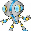 Cute Robot vector illustration — Imagen vectorial