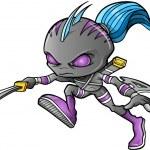 Warrior Ninja Cyborg Soldier Vector — Stock Vector