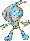 Cute Robot vector illustration — Stock Vector