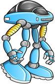 Massive Warrior Robot Cyborg Soldier Vector — Stock Vector