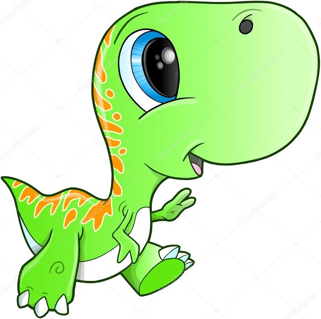可爱暴龙恐龙霸王龙矢量