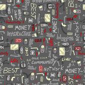 Technology Business Seamless Pattern — Stock Vector