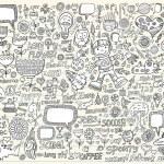 Notebook Doodle Design Elements Vector Set — Stock Vector