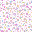 Stock Vector: Springtime Seamless Pattern Vector
