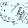 Doodle Bird Vector Illustration Art - Stock Vector