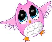 Cute Owl Vector Art — Stock Vector