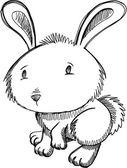 Králíček náčrt doodle — Stock vektor