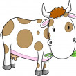 Cute Farm Cow Vector Illustration Art — Stock Vector