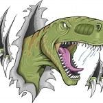 Tyrannosaurus Rex Dinosaur Vector Illustration — Stock Vector #26855373