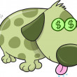 Money Puppy Dog Vector Illustration Art — Stock Vector #26855389