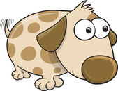 Cute Puppy Dog Vector Illustration Art — Vecteur