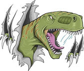 Tyrannosaurus rex dinosaur vectorillustratie — Stockvector