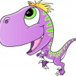 Cute Purple Raptor Dinosaur Vector Illustration — Stock Vector #30769273