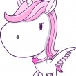 Cute Unicorn Pegasus Vector Illustration Art — Stock Vector #31262825