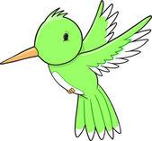 Söt surrande fågel vektor illustration konst — Stockvektor