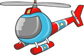 Police Rescue Helicopter Vector Illustration Art — Vetorial Stock