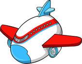 Cute Jumbo Jet Vector Illustration Art — Stock Vector