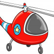Cute Rescue Police Helicopter Vector Illustration Art — Stock Vector