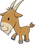 Farm Goat Vector Illustration Art — Stock Vector
