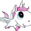 cute unicorn pegasus vector illustration art — Stock Vector