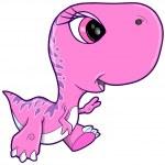 Pink Girl Tyrannosaurus Rex Dinosaur Vector Illustration art — Stock Vector