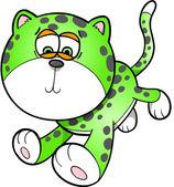 Sad Leopard Vector Illustration Art — Stock Vector