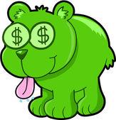 Happy Money Bear Vector Illustration Art — Stock Vector
