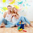 Young couple making repairs — Stock Photo #12550657