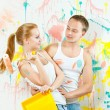 Young couple making repairs — Stock Photo #12550659