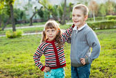Two children — Stock Photo