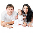 Stock Photo: Happy family with a baby
