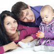 Stock Photo: Family with a baby