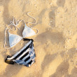 Swimsuit in the sand — Foto Stock