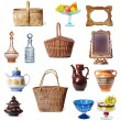 Stock Photo: Dishes and baskets