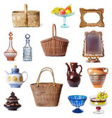 Dishes and baskets — Stock Photo