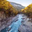 Mountain river fall — Stock Photo