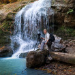 Photographer of the waterfall — Stock Photo