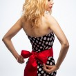 Blonde in a dress — Stock Photo
