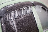 Car covered with ice — Stock Photo