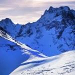Snow-capped mountains. — Stock Photo