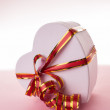 Stock Photo: Heart box with a bow