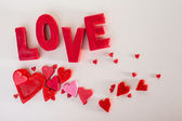 Napis miłość — Zdjęcie stockowe