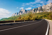 Road to Mountains — Stock Photo