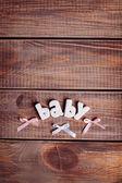 Background for newborn baby — Stock Photo