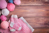 Balls of yarn for knitting — Stock Photo